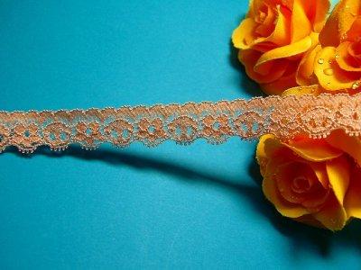 画像2: 25m!幅1.6cm小花柄ラッセルストレッチレース ブラウン