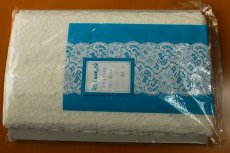 画像4: お買い得!10m!幅8.5cm薔薇柄リバーストレッチレース オフホワイト (4)