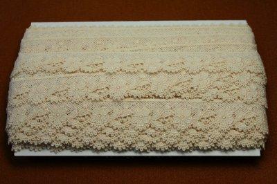 画像3: 1m!幅2.3cm可愛い花柄綿ケミカルレース 生成り