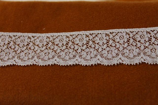 画像3: 50%OFF!4m幅3.7cm花柄フランス製リバーレース ホワイト