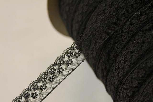 画像4: 5m!幅2cm美しいフランス製リバーレース 黒