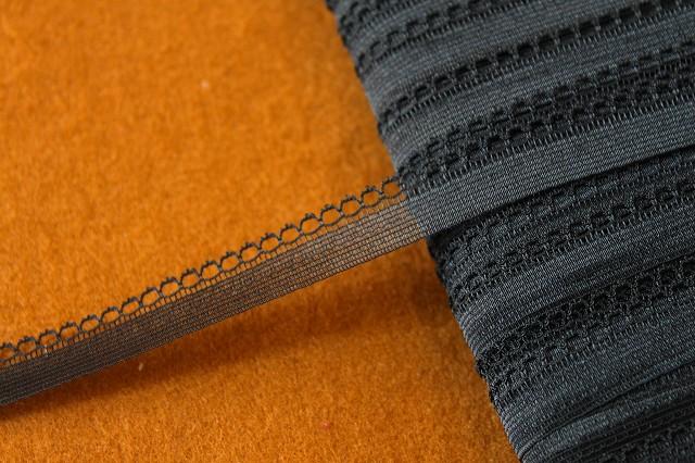 画像1: 10m!幅1.2cm綺麗なラッセルレース 黒 (1)