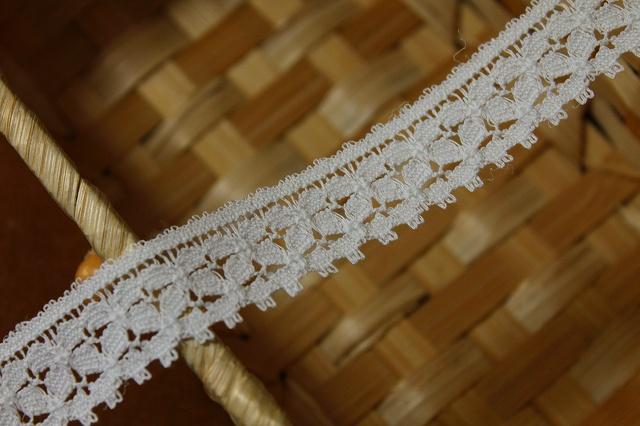 画像1: 5m!幅2cm綺麗な綿リバーレース ホワイト (1)