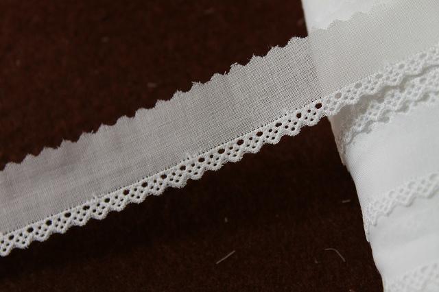 画像1: 13m!幅2.2cm綺麗な刺繍の綿レース ホワイト (1)
