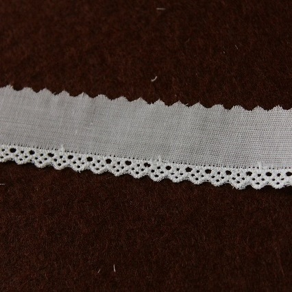 画像1: 綿レース ホワイト 3m巻!幅2.2cm綺麗な刺繍 日本製 (1)