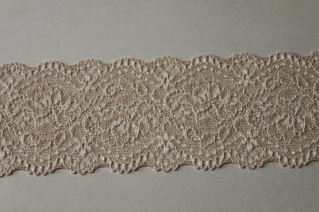 画像4: 送料無料!114m!幅6cm美しい薔薇柄ラッセルストレッチレース ベージュ