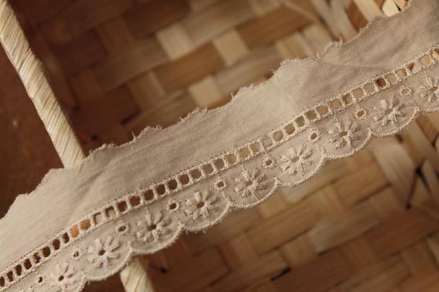 画像4: 6m!幅3cm美しい花柄綿レース ブラウン