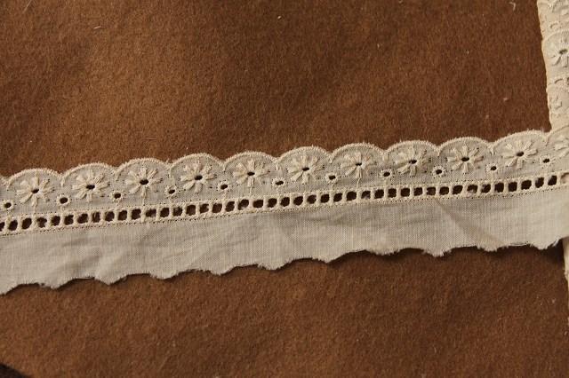 画像2: 6m!幅3cm美しい花柄綿レース ブラウン