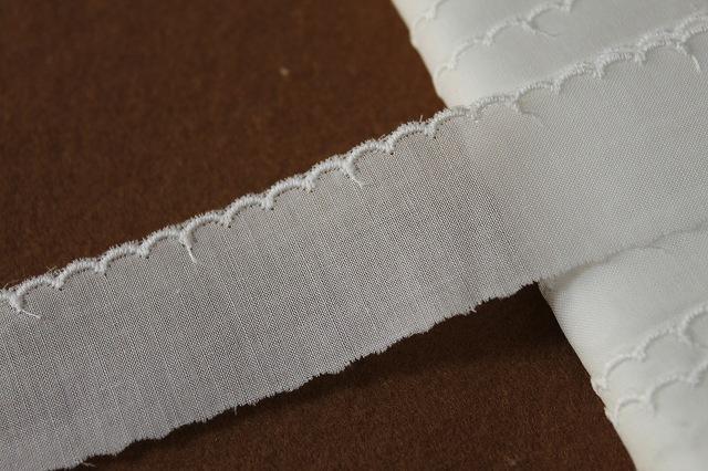 画像1: 13m!幅3cm綺麗なスカラの綿レース オフホワイト