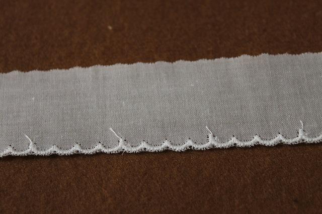 画像2: 13m!幅3cm綺麗なスカラの綿レース オフホワイト
