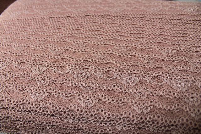 画像5: 30m!幅3cm綺麗な薔薇柄ラッセルストレッチレース ブラウン
