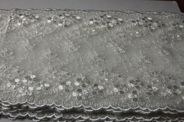 画像5: 3m!幅14.5cm小花の刺繍が美しい柄チュールレース オフホワイト