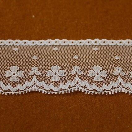 画像3: 3m!幅4cm可愛い小花柄ラッセルレース ホワイト
