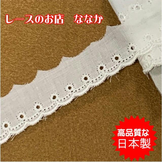 画像1: 150円!2m!1.8cm日本製綿レース  (1)