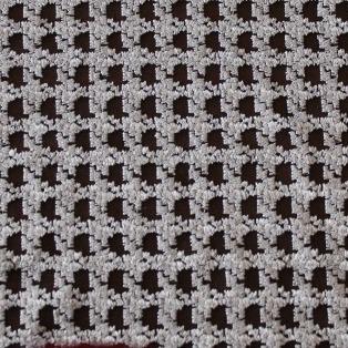 画像1: 幅60cm×80cm!刺繍レース布 黒のネットにシルバーの刺繍 (1)