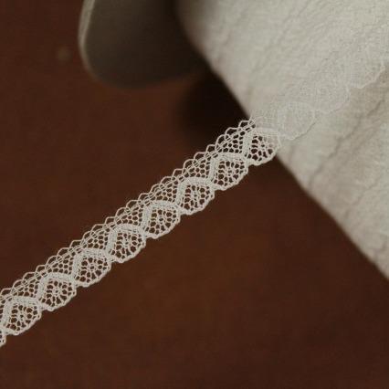 画像1: 幅0.8cmコットン製フランス製リバーレース ホワイト (1)