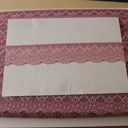 画像1: 反売り128m!幅4.2cm高品質な日本製ラッセルストレッチレース 紫 (1)