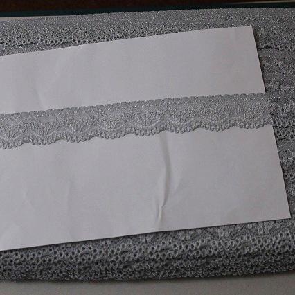 画像1: 264m!幅2.8cm可愛い小花柄ラッセルストレッチレース グレー (1)