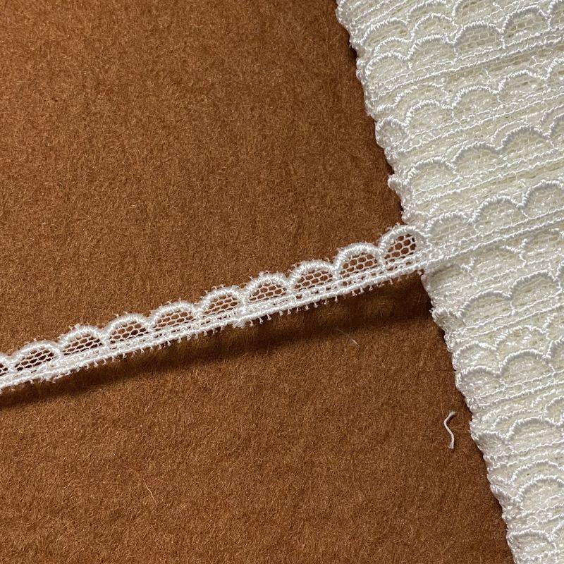 画像1: チュールレース オフホワイト スカラがキュート 幅0.6cm 3m巻 (1)