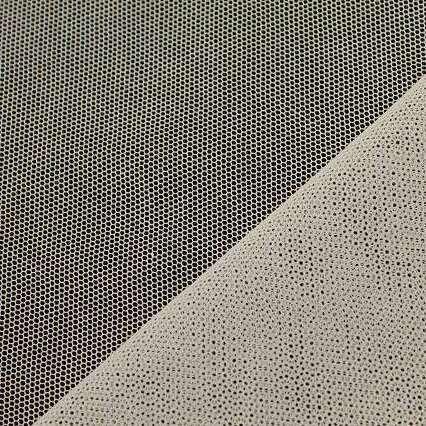 画像1: イギリス製綿チュール オフホワイト 95cm×100cm (1)